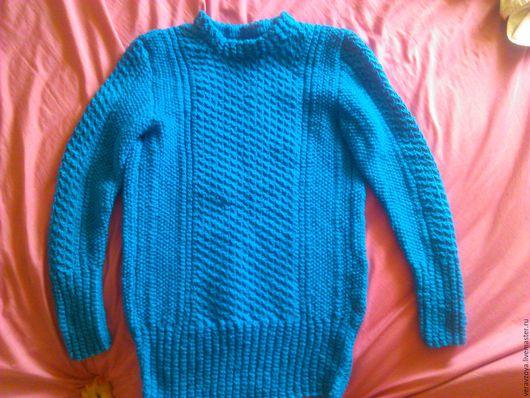 Кофты и свитера ручной работы. Ярмарка Мастеров - ручная работа. Купить Женский свитер. Handmade. Тёмно-бирюзовый, теплый подарок