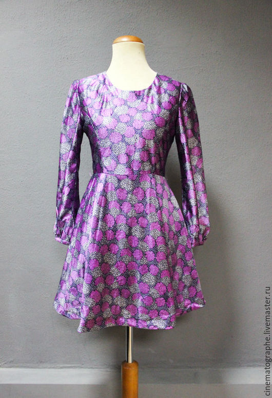 Одежда. Ярмарка Мастеров - ручная работа. Купить Платье винтаж 60-е годы Япония. Handmade. Фиолетовый, винтаж