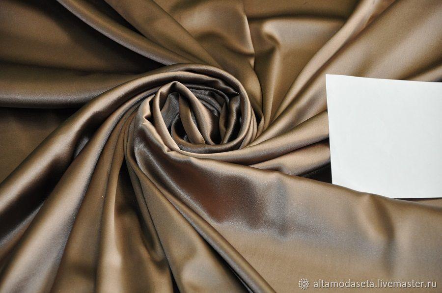 Шелк светло-коричневого цвета, Ткани, Москва,  Фото №1