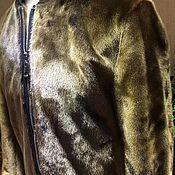 Мужская одежда handmade. Livemaster - original item Men`s outerwear: Men`s sea lion fur bomber jacket.. Handmade.