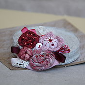 Украшения ручной работы. Ярмарка Мастеров - ручная работа Брошь текстильная розовая. Handmade.