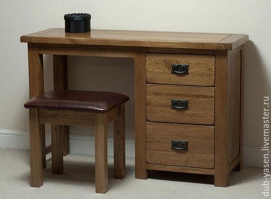"""Мебель ручной работы. Ярмарка Мастеров - ручная работа. Купить Туалетный столик из дуба """"Шале"""". Handmade. Коричневый, офисный стиль"""