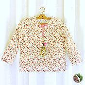 """Одежда ручной работы. Ярмарка Мастеров - ручная работа Рубашка для девочек """"Цветочки"""". Handmade."""
