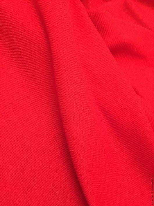 Шитье ручной работы. Ярмарка Мастеров - ручная работа. Купить Красная сорочечная ткань, необычной выделки, купить ткань, ткань. Handmade.