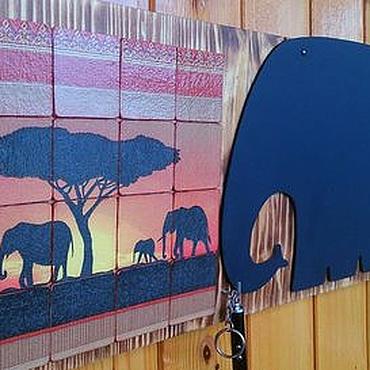 """Для дома и интерьера ручной работы. Ярмарка Мастеров - ручная работа Меловая доска -ключница """" Африка"""". Handmade."""