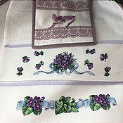 Для дома и интерьера handmade. Livemaster - original item Violet. Set in the kitchen. Handmade.