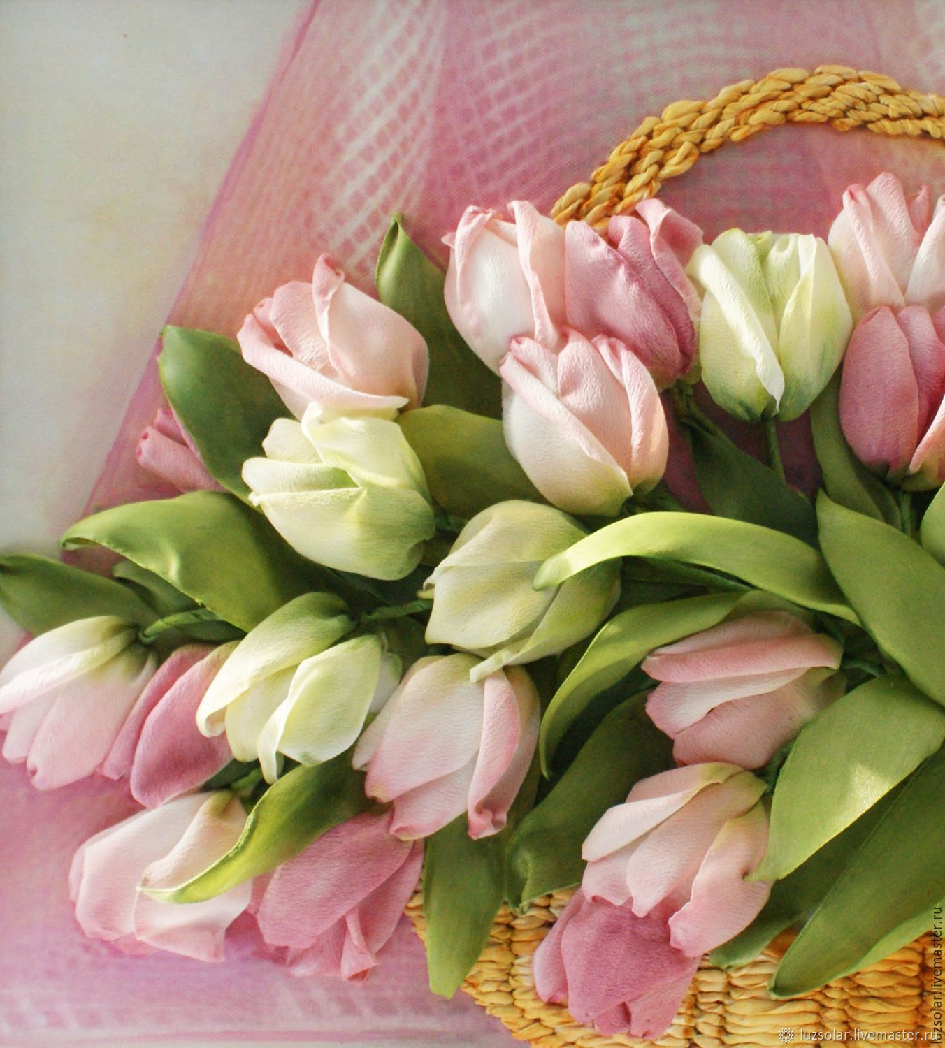 The picture ribbons of Tulips in a basket, Pictures, Maikop,  Фото №1