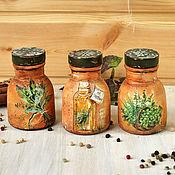 Для дома и интерьера ручной работы. Ярмарка Мастеров - ручная работа Набор глиняных баночек для специй. Handmade.