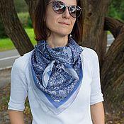 """Аксессуары handmade. Livemaster - original item Designer shawl """"Steampunk Cheburashkas Denim"""". Handmade."""