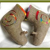 """Обувь ручной работы. Ярмарка Мастеров - ручная работа Валеночки""""Радужные улитки"""". Handmade."""