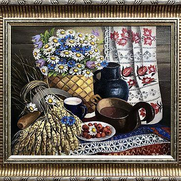 """Картины и панно ручной работы. Ярмарка Мастеров - ручная работа Картина: """"Натюрморт в русском стиле"""". Handmade."""