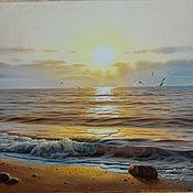 Для дома и интерьера ручной работы. Ярмарка Мастеров - ручная работа `` Cпокойное море``. Handmade.