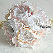 Свадебный салон ручной работы. Ярмарка Мастеров - ручная работа Свадебный брошь букет невесты. брошь букет нежно розовый. Handmade.