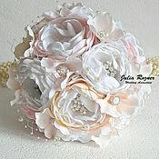 Свадебный салон handmade. Livemaster - original item Wedding brooch bouquet. brooch bouquet pale pink. Handmade.