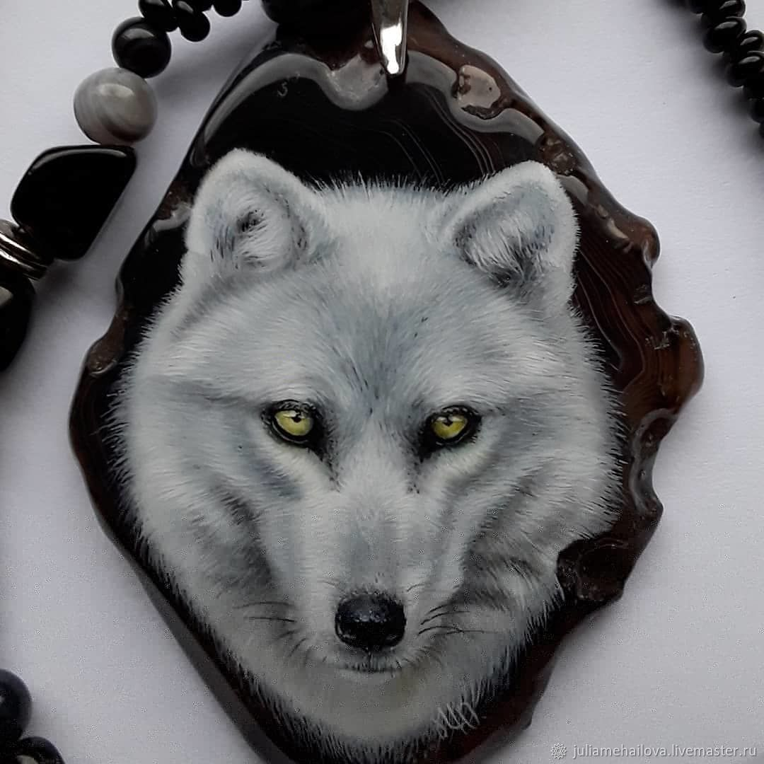 Polar wolf pendant and necklace, Necklace, Ufa,  Фото №1