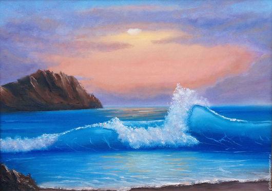 Пейзаж ручной работы. Ярмарка Мастеров - ручная работа. Купить Картина маслом Море, 50х70 см. Handmade. Море