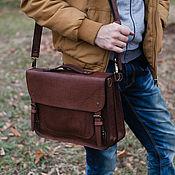 Сумки и аксессуары handmade. Livemaster - original item Leather men`s MARTIN briefcase. Handmade.