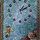 Часы для дома ручной работы. Ярмарка Мастеров - ручная работа. Купить Панно часы настенные Морская Звезда с ракушками  полезный подарок. Handmade.