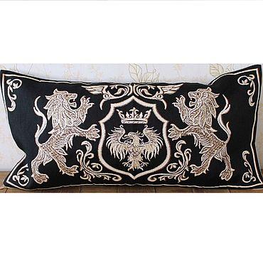 Текстиль ручной работы. Ярмарка Мастеров - ручная работа ГЕРБ 7: гобеленовый чехол на подушку, 35-70 см. Handmade.