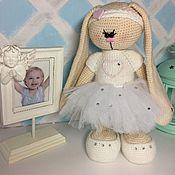 Куклы и игрушки ручной работы. Ярмарка Мастеров - ручная работа Зайка балеринка. Handmade.