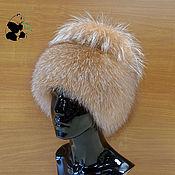 Аксессуары ручной работы. Ярмарка Мастеров - ручная работа Шапка меховая женская на трикотажной основе из меха лисы огнёвки ДФ-57. Handmade.
