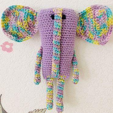 Куклы и игрушки ручной работы. Ярмарка Мастеров - ручная работа Вязаная игрушка Слон. Handmade.