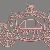 Иллюстрации ручной работы. Ярмарка Мастеров - ручная работа Дизайн машинной вышивки карета принцессы - три размера. Handmade.