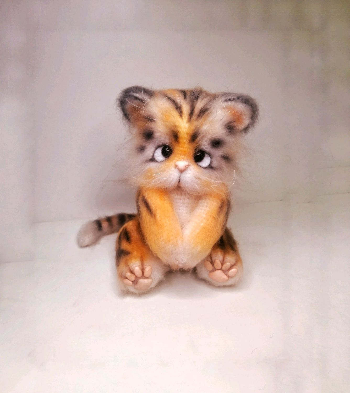 Вязаный тигрёнок, Амигуруми куклы и игрушки, Пинск,  Фото №1