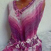 Одежда handmade. Livemaster - original item Summer tank top Floral handmade. Handmade.