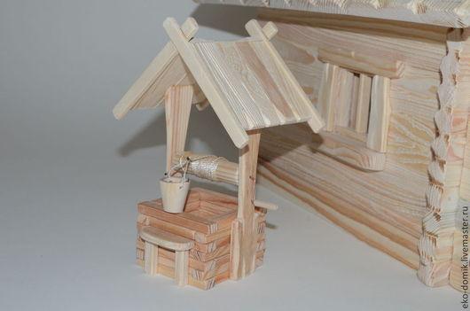 Кукольный дом ручной работы. Ярмарка Мастеров - ручная работа. Купить Кукольный деревянный колодец. Handmade. Бежевый, колодец для кукол