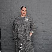 Одежда handmade. Livemaster - original item Jumper grey melange cotton footer with elongated back. Handmade.