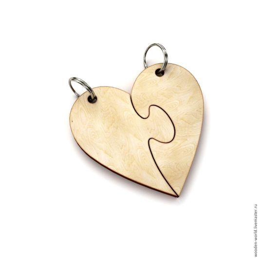 Декупаж и роспись ручной работы. Ярмарка Мастеров - ручная работа. Купить Подвес сердце из двух половинок. Handmade. Комбинированный