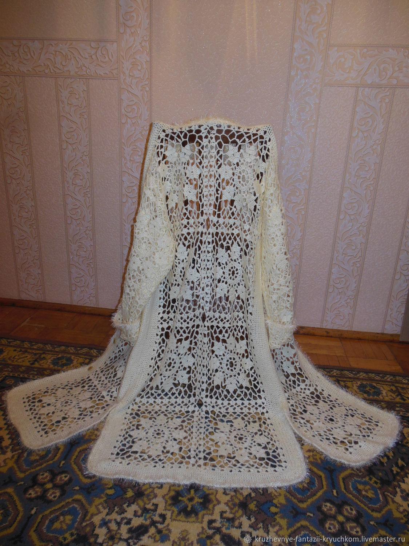 фото женское ажурное пальто распространенный вариант польский