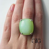 Украшения handmade. Livemaster - original item luxurious ring with peruvian opal 28.70 carat! inlaid cz.. Handmade.