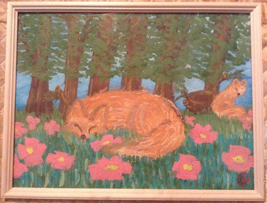 Животные ручной работы. Ярмарка Мастеров - ручная работа. Купить Лиса в лесу. Handmade. Комбинированный, комбинированный цвет, коричневый цвет