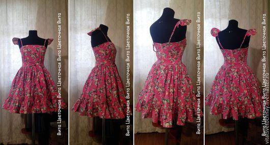Платья ручной работы. Ярмарка Мастеров - ручная работа. Купить Круизное платье с пышной юбкой. Handmade. Цветочный, крылья