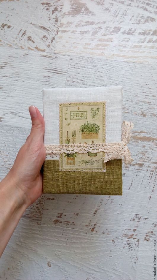 """Блокноты ручной работы. Ярмарка Мастеров - ручная работа. Купить Блокнот """"Herbs"""". Handmade. Ярко-зелёный, блокнот ручной работы"""