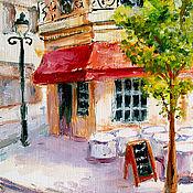 """Картины и панно ручной работы. Ярмарка Мастеров - ручная работа картина """"Солнечное кафе"""". Handmade."""
