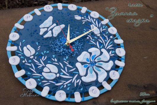 Часы из стекла в технике фьюзинг.  Авторская работа. Слада Новицки.