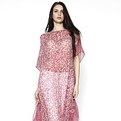 Одежда handmade. Livemaster - original item Silk tunic dress in small flower