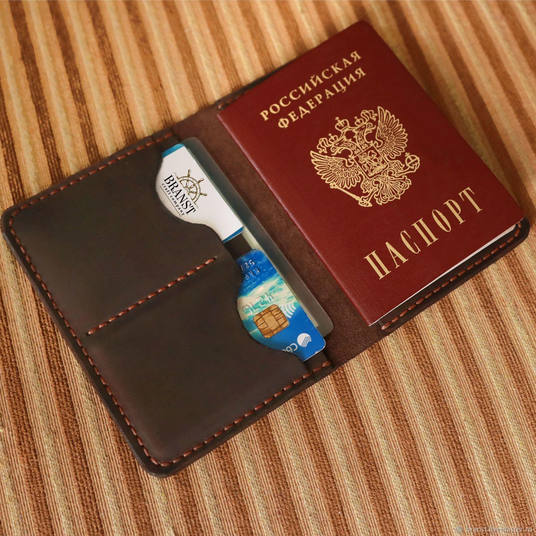 Documentsize genuine leather (deckholder) - Yauza, Wallets, Makhachkala,  Фото №1