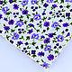 Шитье ручной работы. Ярмарка Мастеров - ручная работа. Купить Ткань Хлопок Полянка голубая-фиолетовая тильда. Handmade. Хлопок