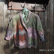 Одежда handmade. Livemaster - original item Cardigan knit mix jacket. Handmade.