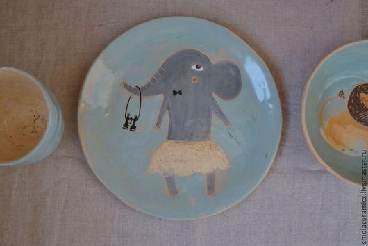 Сервизы, чайные пары ручной работы. Ярмарка Мастеров - ручная работа. Купить Набор посуды Голубая Африка. Handmade. Африка