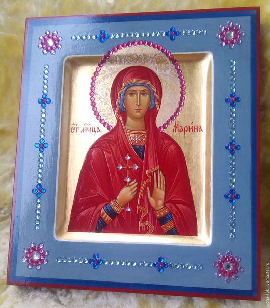 Иконы ручной работы. Ярмарка Мастеров - ручная работа. Купить МАРИНА ,святая мученица ,рукописная икона. Handmade. Икона