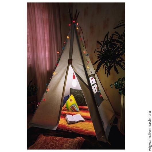 """Детская ручной работы. Ярмарка Мастеров - ручная работа. Купить Детский домик - палатка вигвам """"Простор для творчества"""". Handmade. Палатка"""