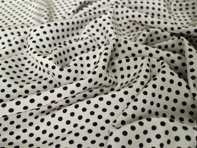 Шелковый крепдешин Polca Dots, Ткань, Москва, Фото №1