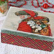 Для дома и интерьера ручной работы. Ярмарка Мастеров - ручная работа Шкатулочка новогодняя. Handmade.