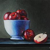 Картины и панно handmade. Livemaster - original item Oil painting Red apples. Handmade.