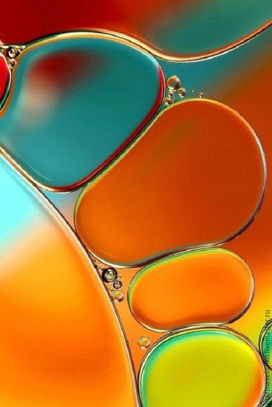 Абстракция. Вода и масло. Фото.